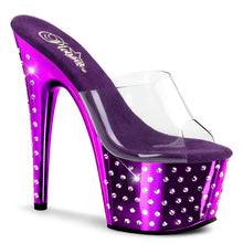 Load image into Gallery viewer, STARDUST-701 Pleaser Sexy Shoes 7 Inch Rhinestone Studded Platform Slide Slip on Shoes - Miss HollywoodStrippers Shoes