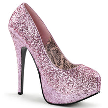 "Load image into Gallery viewer, TEEZE-06G Hidden Platform 6"" Heel Baby Pink Sexy Shoes"