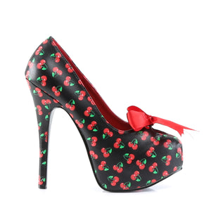 TEEZE-12-6 Pin Up Couture Sexy Shoes 5 3/4 Inch Heel Platforms Stiletto with Satin Bow