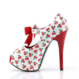TEEZE-25-3 Pin Up Couture 6 Inch Heel Cherries Platforms