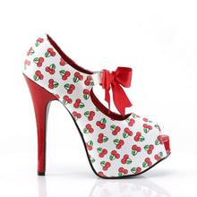 Load image into Gallery viewer, TEEZE-25-3 Pin Up Couture 6 Inch Heel Cherries Platforms