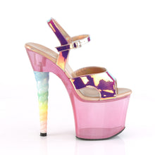 Load image into Gallery viewer, UNICORN-711T 7 Inch Heel Pink Bubble Gum Pink Tint Sexy Shoe