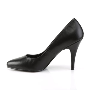 "VANITY-420 Pleaser Shoes 4"" Heel Black Leather Fetish Shoes"