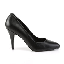 "Load image into Gallery viewer, VANITY-420 Pleaser Shoes 4"" Heel Black Leather Fetish Shoes"