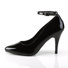 "Load image into Gallery viewer, VANITY-431 Pleaser Shoe 4"" Heel Black Patent Fetish Footwear"