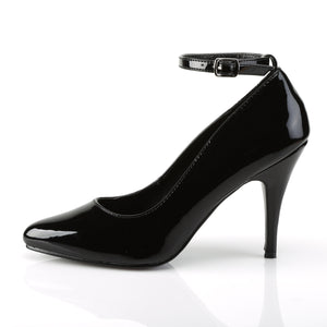 "VANITY-431 Pleaser Shoe 4"" Heel Black Patent Fetish Footwear"