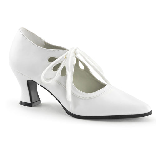VICTORIAN-03 Funtasma Women's Shoes - Sexy White Pu Fetish Footwear-Women's Shoes-Funtasma-Footwear Fetish-White Pu-Miss Hollywood Sexy Shoes