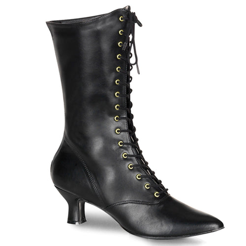 VICTORIAN-120 Funtasma Women's Boots - Sexy Black Pu Fetish Footwear-Women's Boots-Funtasma-Footwear Fetish-Black Pu-Miss Hollywood Sexy Shoes