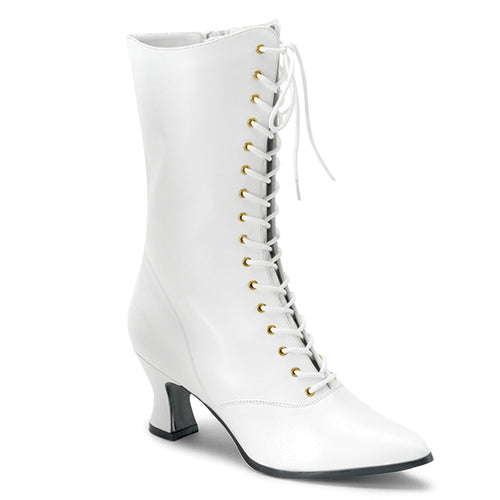 VICTORIAN-120 Funtasma Women's Boots - Sexy White Pu Fetish Footwear-Women's Boots-Funtasma-Footwear Fetish-White Pu-Miss Hollywood Sexy Shoes