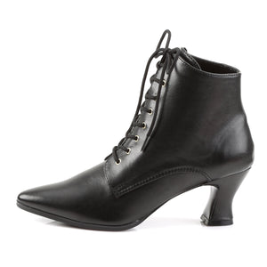 VICTORIAN-35 Funtasma 3 Inch Heel Black Women's Boots-Funtasma- Sexy Shoes Pole Dance Heels