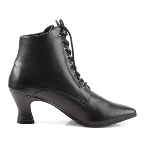 VICTORIAN-35 Funtasma 3 Inch Heel Black Women's Boots-Funtasma- Sexy Shoes Fetish Heels