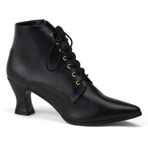 VICTORIAN-35 Funtasma 3 Inch Heel Black Women's Boots-Funtasma- Sexy Shoes