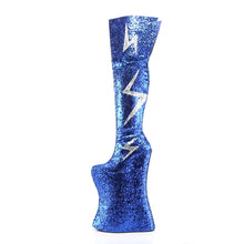 Load image into Gallery viewer, VIVACIOUS-3016 Royal Blue Silver Glitter Platform Thigh Boot