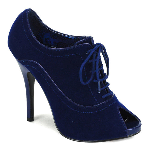 WINK-01 Bordello Burlesque 5 Inch Heel Blue Velvet Sexy Shoe