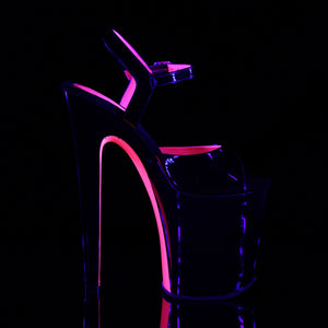 "XTREME-809TT 8"" Heel Black Pole Dancing Platforms Shoes"