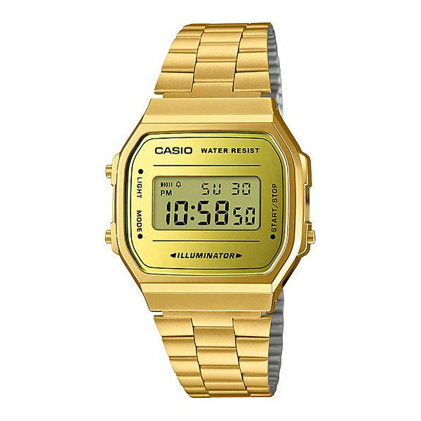 Casio A168WEGM-9D Stainless Steel Watch