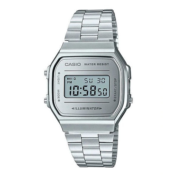 Casio A168WEM-7D Stainless Steel Watch