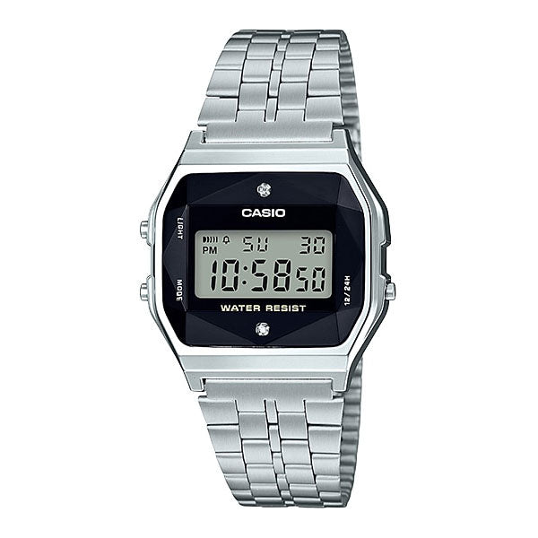 Casio A159WAD-1A Stainless Steel Watch