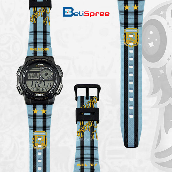 Casio AE-1000W Argentina Custom Design 2018 World Cup Series Resin Watch