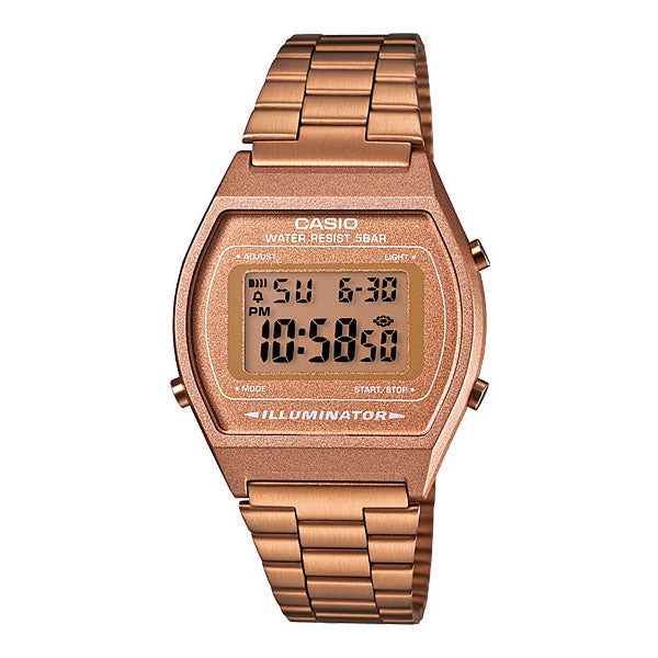 Casio B640WC-5A Classic Retro Rose Gold Stainless Steel Watch
