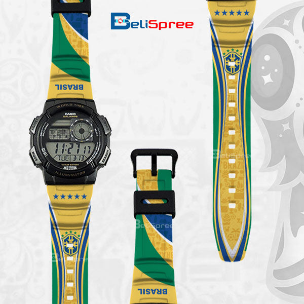 Casio AE-1000W Brazil Custom Design 2018 World Cup Series Resin Watch