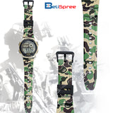 Casio AE-1000W Gold Green Camo Custom Design Camouflage Edition Resin Watch