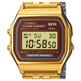Casio A-159WGEA-5D Gold LED Stopwatch Stainless Steel Watch 1