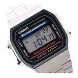 Casio A-168WA-1U Stopwatch Alarm EL Stainless Steel Watch 1