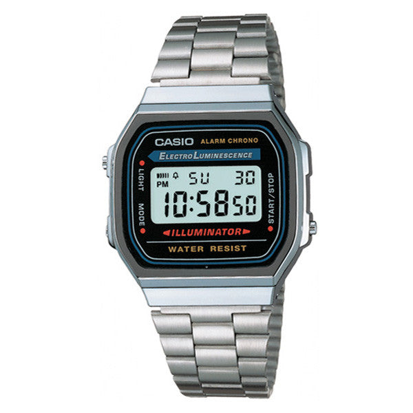 Casio A-168WA-1U Stainless Steel Watch