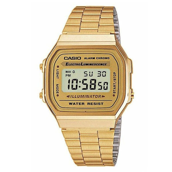 Casio A168WG-9W Stainless Steel Watch