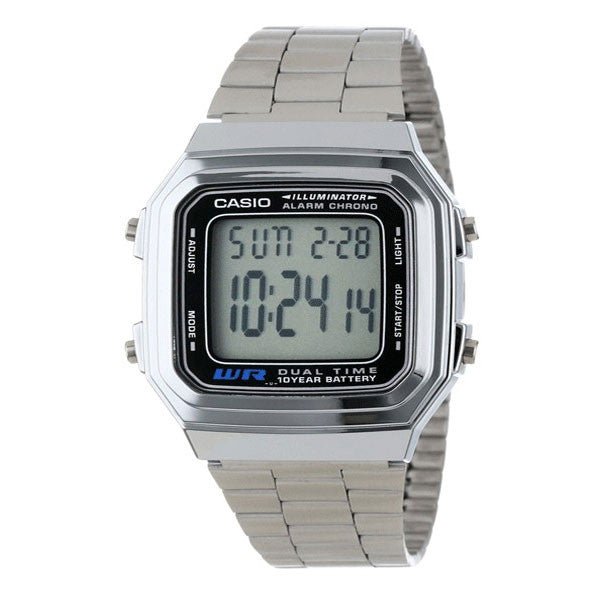 Casio A178WA-1A Stainless Steel Watch