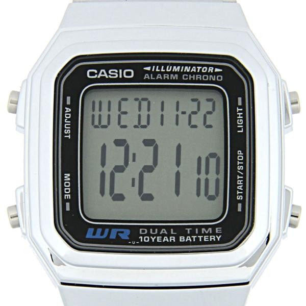 Casio A-178WA-1A Stainless Steel Watch