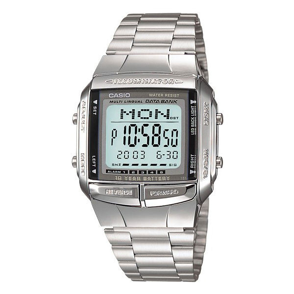 Casio Data Bank DB-360-1A Stainless Steel Watch