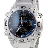 Casio Fishing Gear AMW-703D-1A Moon Data Thermometer EL Stainless Steel Watch 1