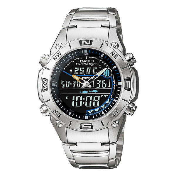 Casio Fishing Gear AMW-703D-1AV Stainless Steel Watch