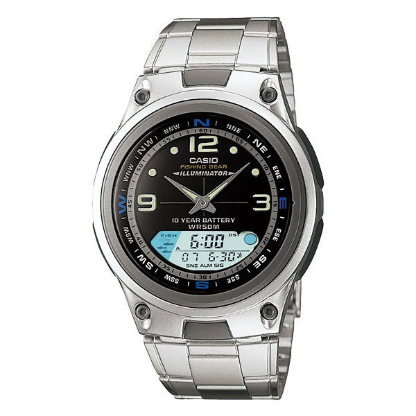 Casio Fishing Gear AW-82D-1AV Stainless Steel Watch