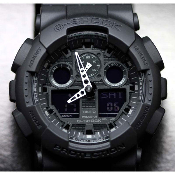 Casio G Shock Ga 100 1a1d Magnetic Resistant Led Resin