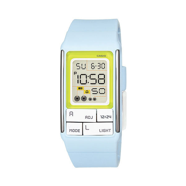 Casio POPTONE LDF-51-2A Dual Time Alarm EL Resin Watch