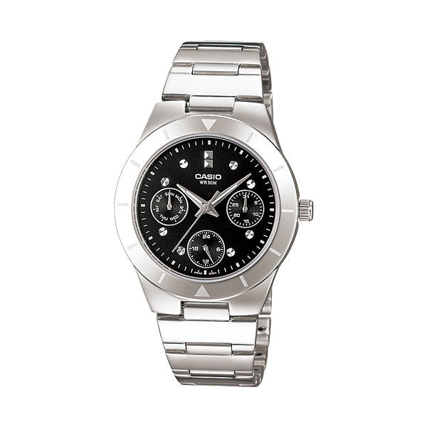 Casio LTP-2083D-1AV Women's Stainless Steel Watch