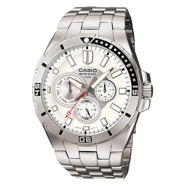 Casio MTD-1060D-7AV Stainless Steel Watch