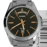 Casio MTP-1370D-1A2V Men's Stainless Steel Watch