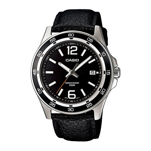 Casio MTP-1373L-1AV Men's Leather Watch