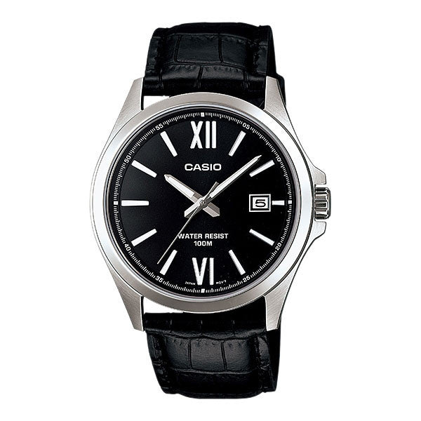 Casio MTP-1376L-1AV Men's Leather Watch