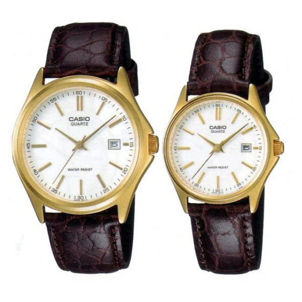 Casio MTP/LTP-1183Q-7A Couple Leather Watches