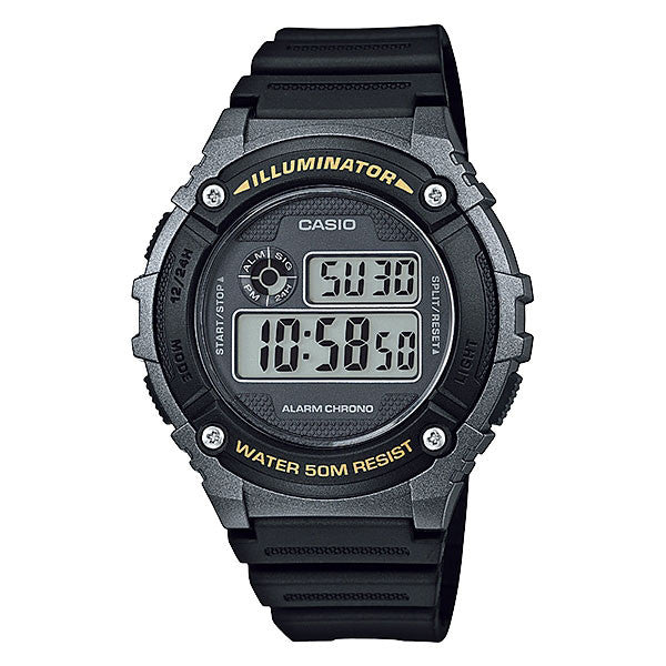 Casio W-216H-1BV Resin Watch