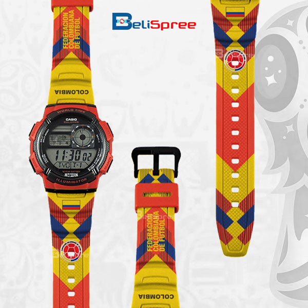 Casio AE-1000W Colombia Custom Design 2018 World Cup Series Resin Watch