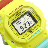 Casio G-Shock DW-5600CMA-9 Breezy Rasta Resin Watch