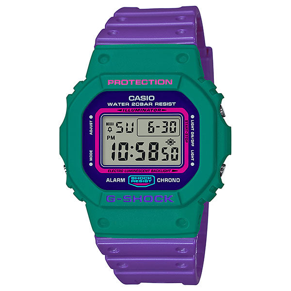 Casio G-Shock DW-5600TB-6 Throwback 80s Street Fashion Colors Resin Watch