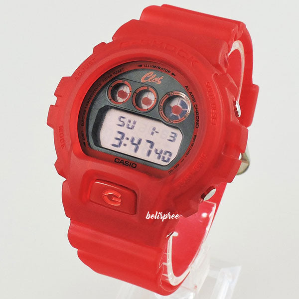 Casio G-Shock DW-6900CL-4 Clot Red Jelly Custom Assembled Resin Watch