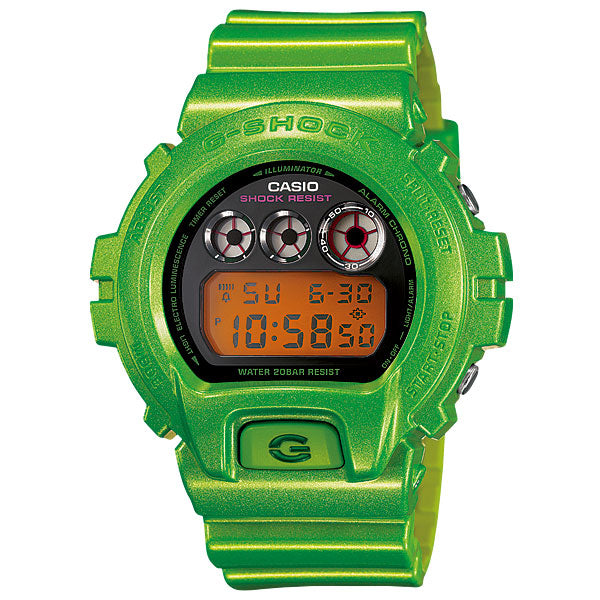 Casio G-Shock DW-6900NB-3 Metallic Lime Green Custom Assembled Resin Watch